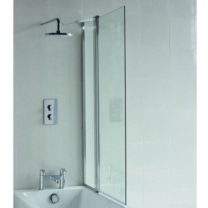 Cleargreen Hinged with Fixed Panel 1450 x 850 mm - Chrome