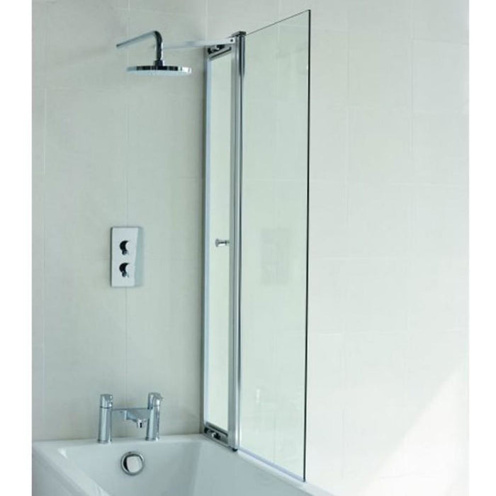 Cleargreen Hinged with Access Panel 1450 x 850mm - Chrome