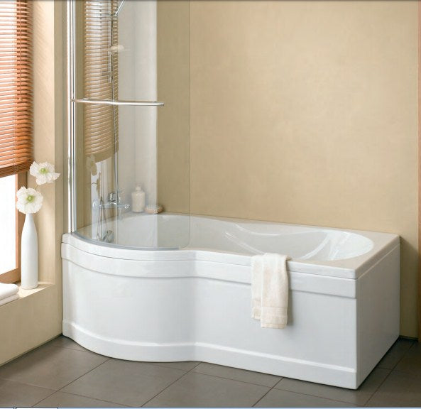 Vitra Curved Shower Screen for Delphi Bath  - White