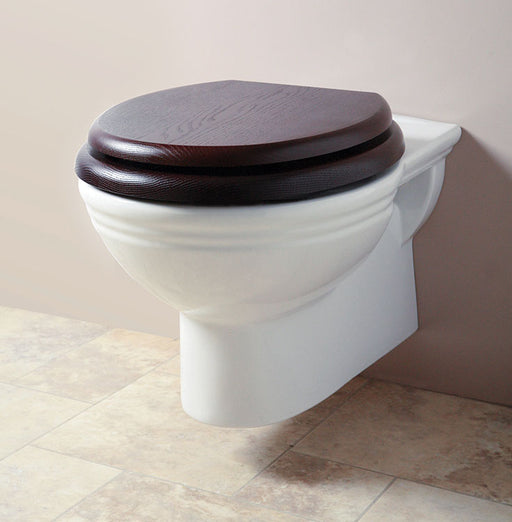 Silverdale Belgravia/Victorian Wall Mounted Toilet with Seat