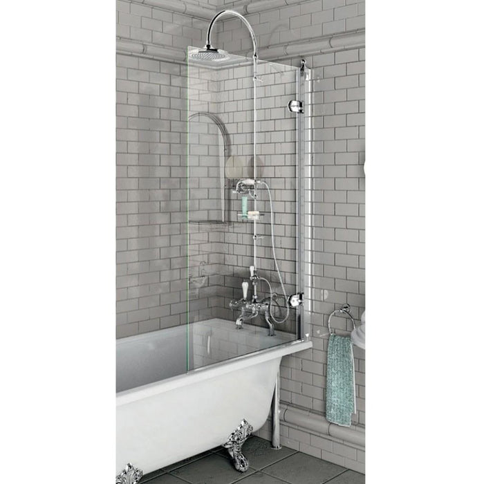 Burlington Bath screen - Chrome