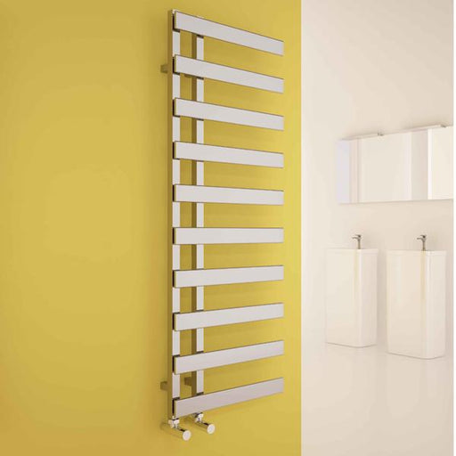 Carisa Floris Vertical Designer Towel Rail - Chrome