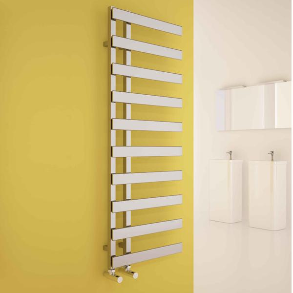 Carisa Floris Steel Vertical Designer Towel Rail - Chrome
