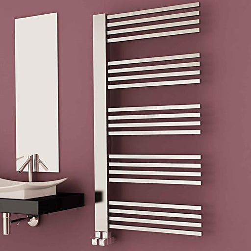 Carisa Gradient Vertical Designer Towel Rail - Chrome