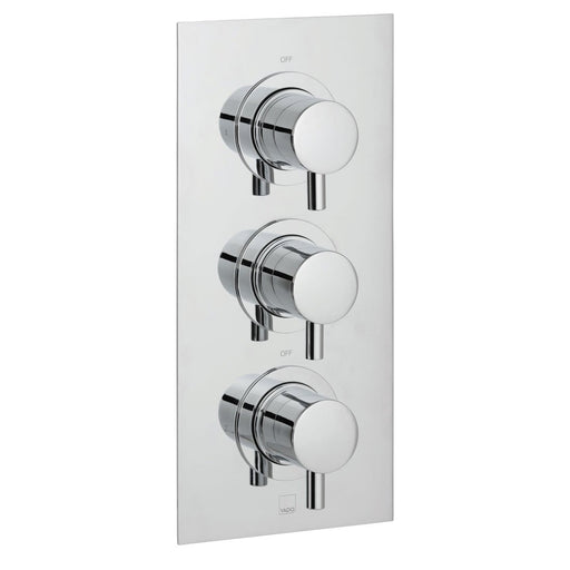 Vado Celsius Square 2 Outlet 3 Handle Thermostatic Shower Valve Wall Mounted