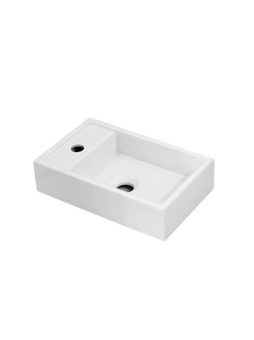 Cifial F5 Cloakroom Bowl Basin - 1 Tap Hole - White