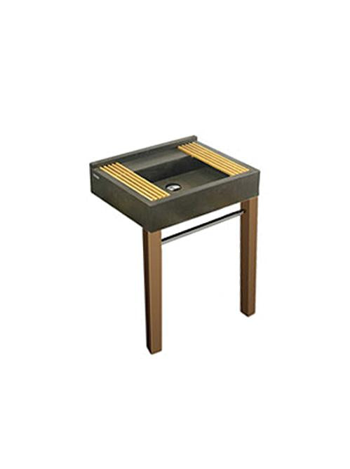 Cifial Techno S1 Wooden Support Legs For Full Size Slate Basin - Cherry Wood