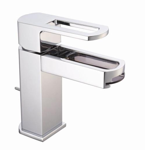 Cifial Cudo Open Basin Mixer with Smoked Spout & Pop-Up Waste
