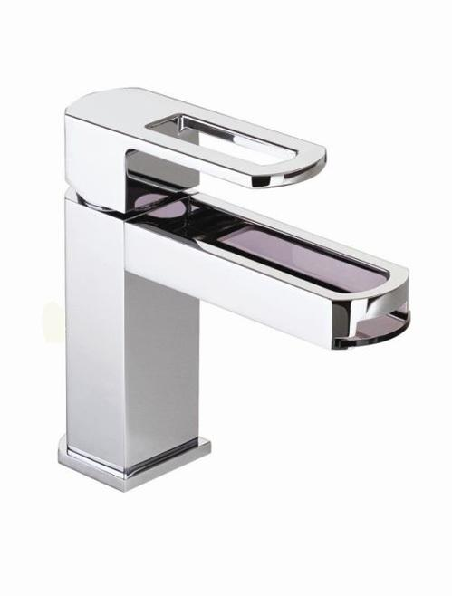 Cifial Cudo Open Mono Basin Mixer with Smoked Spout Chrome