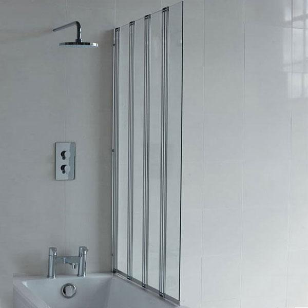 Britton Cleargreen 4-Panel Folding Bath Screen