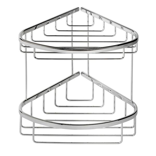 Coram Large Double Corner Shower Basket with Concealed Fixing