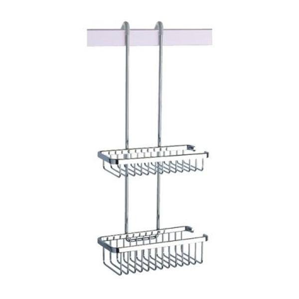 Coram Large Double Suspended Wire Shower Basket