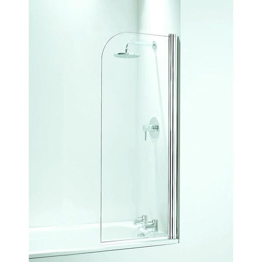 Coram Curved Bath Screen  - 5mm Glass - Chrome