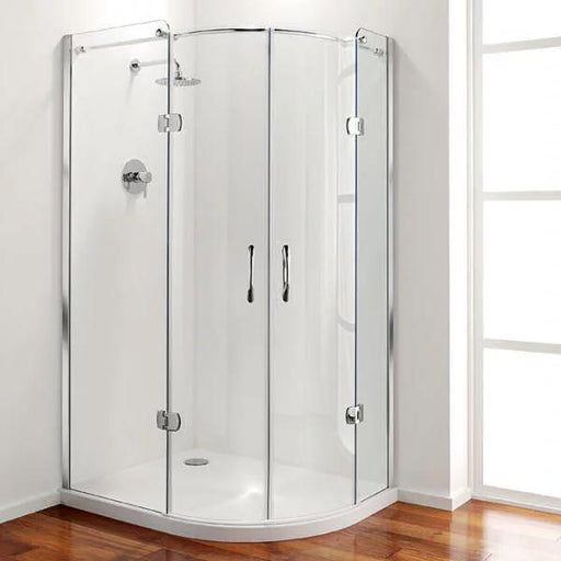 Coram Premier Frameless Hinged Offset Quadrant Shower Enclosure