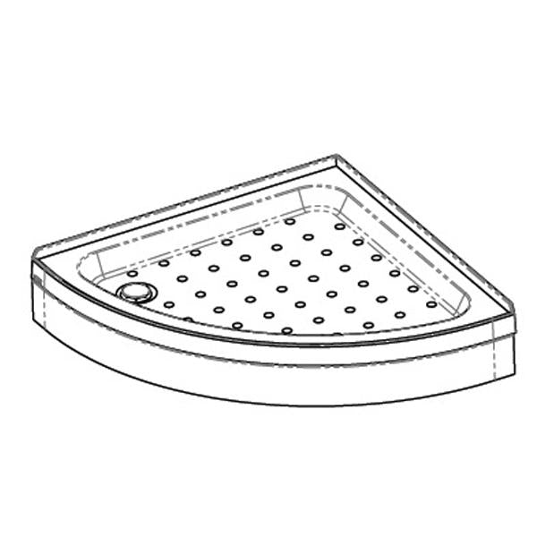 Coram Offset Crescent Riser Shower Tray