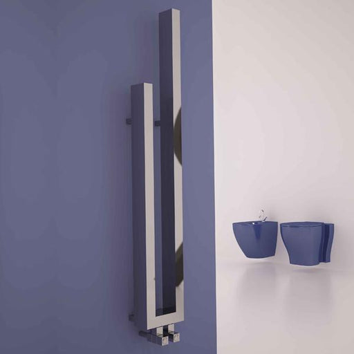Carisa Carla Designer Radiator - 1200mm x 180mm - Chrome