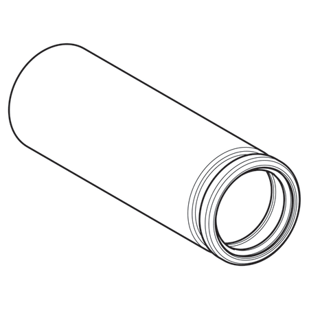 Geberit HDPE straight connector with ring seal socket for wall-hung WC