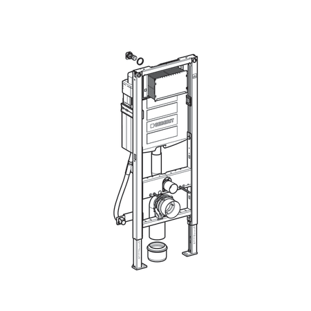 Geberit Duofix frame for wall-hung WC with Sigma concealed cistern 12 cm