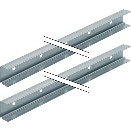 Geberit System Rail - System Rail. 2 x 3m Lengths