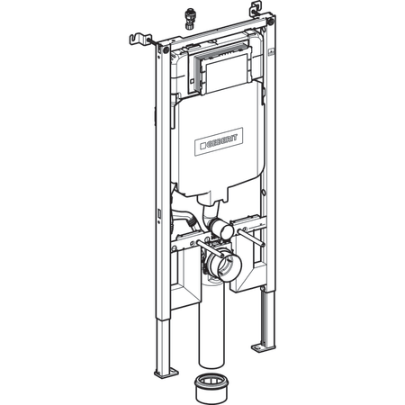 Geberit Duofix frame for wall-hung WC, 114 cm, with Sigma concealed cistern 8 cm