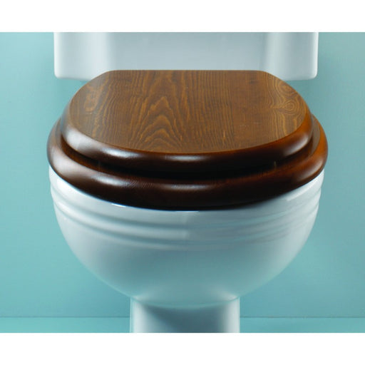 Silverdale Wooden Toilet Seat for Low Level/High Level Toilet