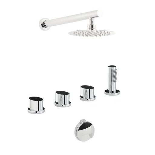 Abode Debut Thermostatic Bath Overflow Filler Kit with Handshower & Shower - Chrome