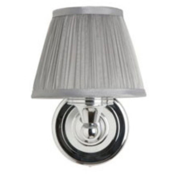 Burlington Chiffon Silver Pleated - Round Base Light