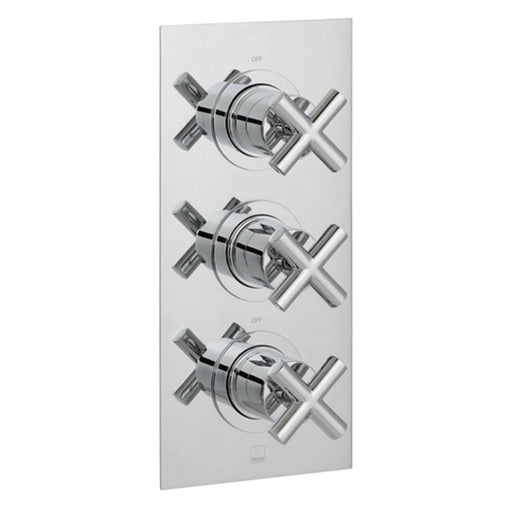 Vado Elements 2 Outlet 3 Handle Thermostatic Shower Valve Wall Mounted