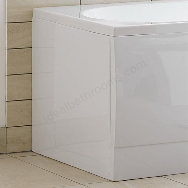 Essential Richmond Rectangular Front Bath Panel - 1800mm  - White