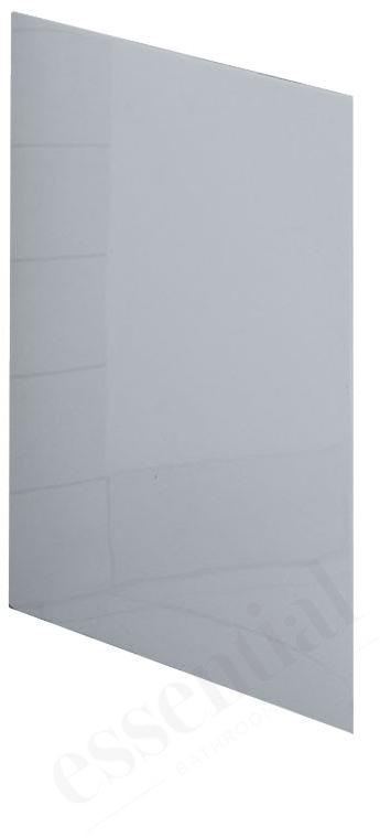 Essential Kensington L Shaped Shower Bath End Panel - 700mm  - White