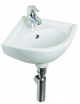 Essential Lily Corner Basin - 1 Tap Hole - 440mm Wide