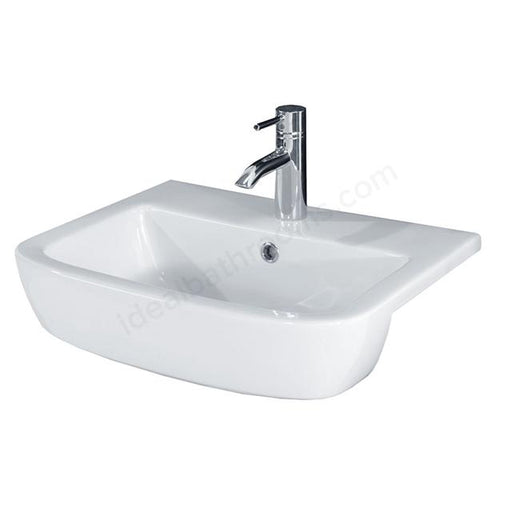 Essential Orchid Semi Recessed Basin - 520mm Wide - 1 Tap Hole