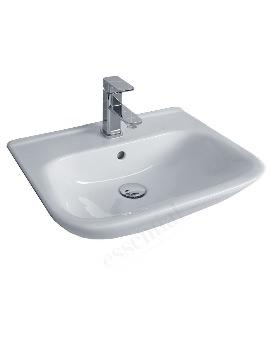 Essential Violet Semi Recessed Basin - 520mm Wide - 1 Tap Hole