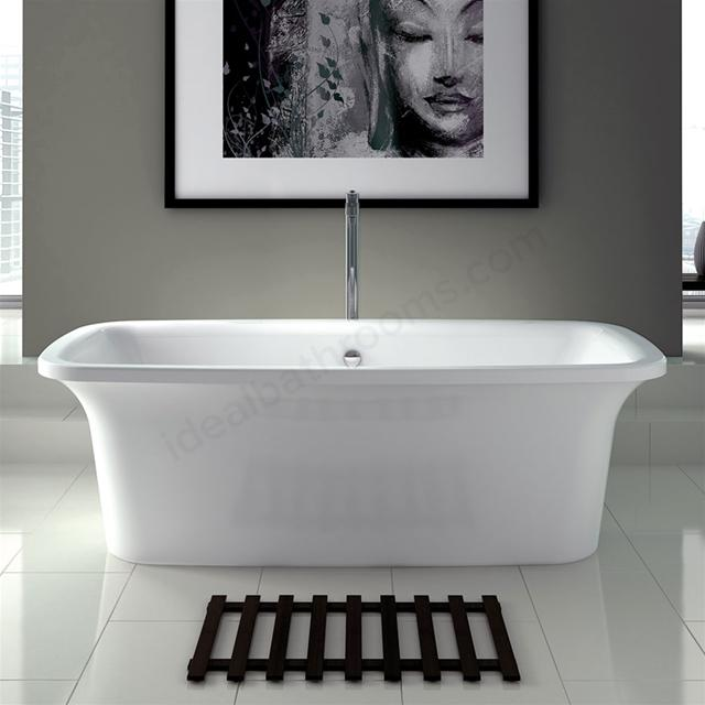 Essential Holborn Rectangular Double Ended Bath With Pop Up Waste - 1800mm X 800mm - White