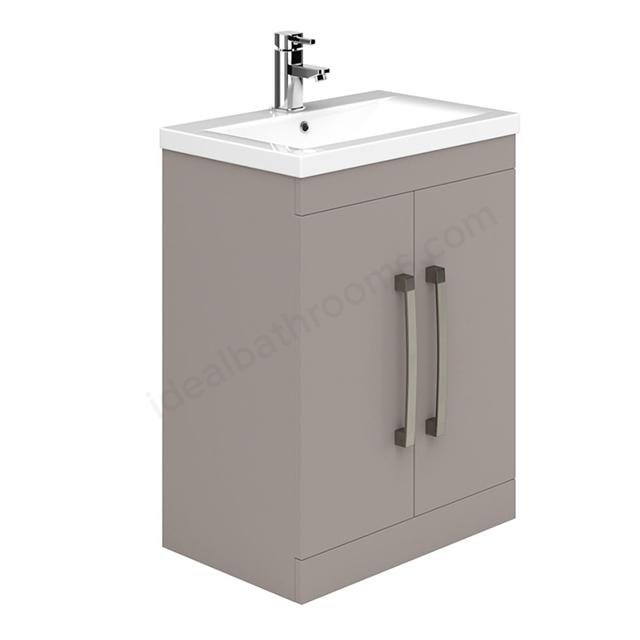 Essential Nevada 2-Door Vanity Unit With Basin - 600mm Wide