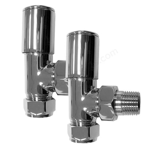 Essential Deluxe Radiator Valves - Pair - 15mm - Chrome