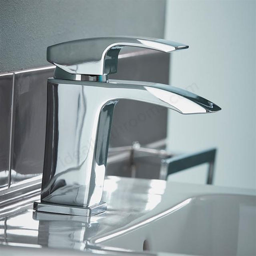 Essential Crest Basin Mixer Tap With Click Waste - Chrome