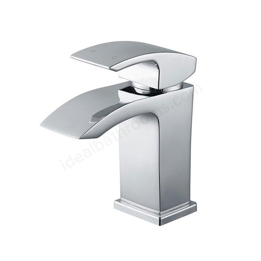 Essential Crest Mini Basin Mixer Tap With Click Waste - Chrome