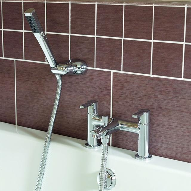 Essential Dawn Bath Shower Mixer With Kit - 2 Tap Hole - Chrome