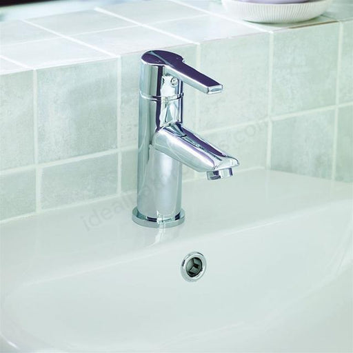Essential Dawn Basin Mixer Tap With Click Waste - Chrome