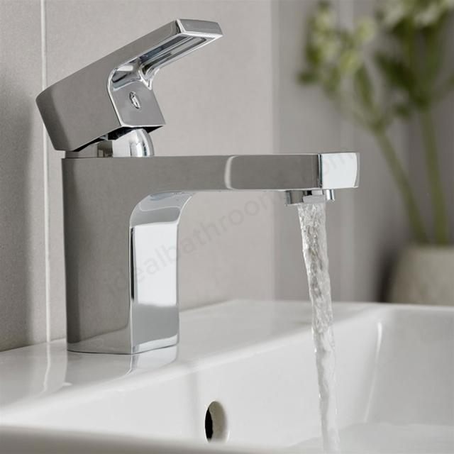 Essential Dusk Basin Mixer Tap With Click Waste - Chrome