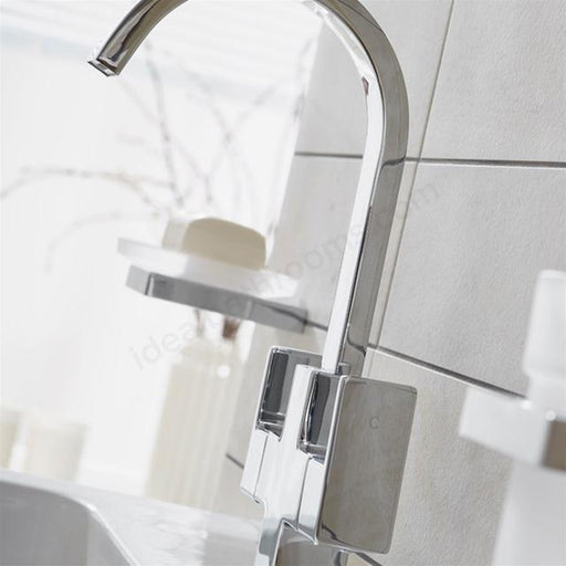 Essential Storm Basin Mixer Tap With Click Waste - Chrome