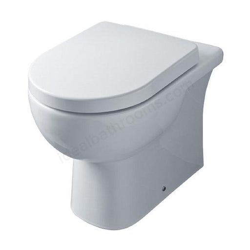 Essential Lily Back To Wall Toilet - Soft Close Seat - White