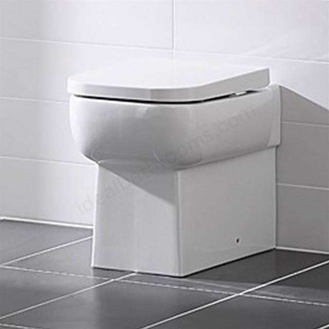 Essential Orchid Back To Wall Toilet - Soft Close Seat - White