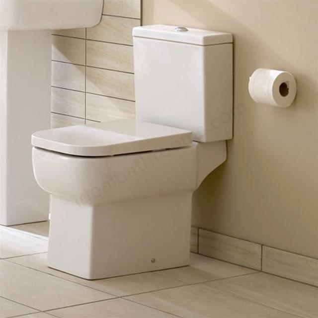 Essential Orchid  Close Coupled Toilet With Cistern - Soft Close Seat - White