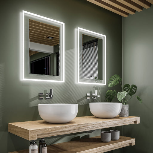 HiB Element Illuminated Rectangular Wall Mounting LED Mirror