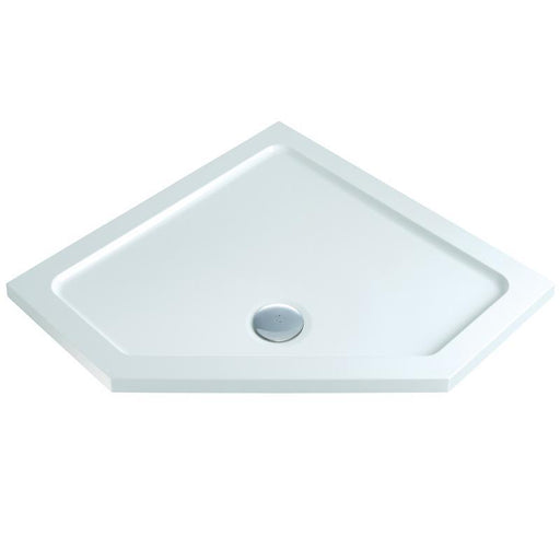 MX Elements ABS Stone Resin Flat Top Pentangle Shower Trays