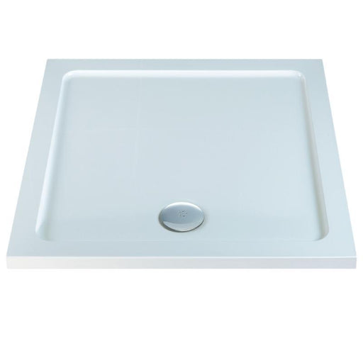 MX Elements ABS Stone Resin Flat Top Square Shower Trays