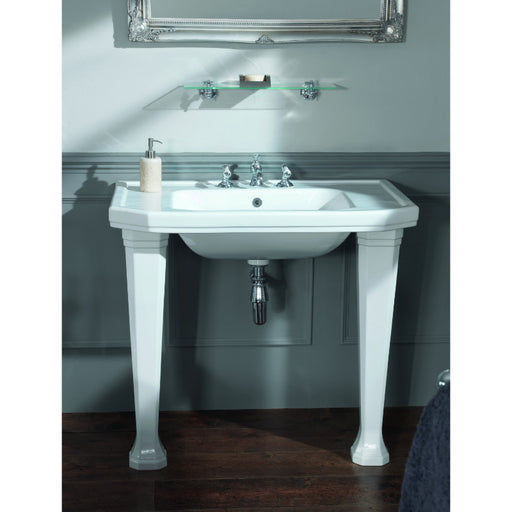 Silverdale Empire White Console Basin Leg Set