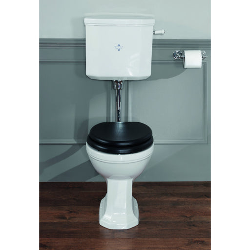 Silverdale Empire White High Level / Low Level Pan with Seat & Cistern